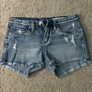 Distressed Bleached Shorts